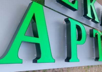 litery 3d dla aptek