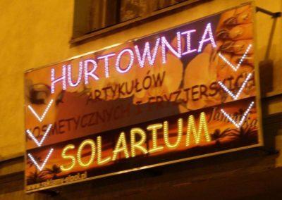 reklama diodowa dla solarium