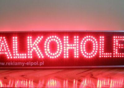 Reklama diodowa LED alkohole