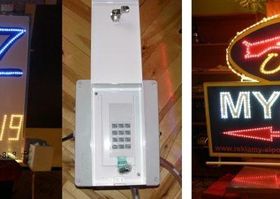 Reklama diodowa LED myjnia i auto gaz
