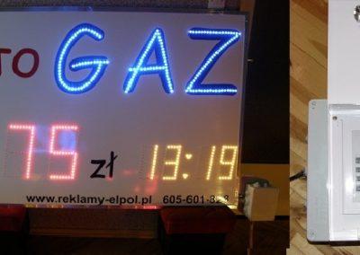 zegar led dla autogaz